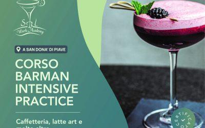 OTTOBRE / CORSO BARMAN INTENSIVE PRACTICE 40h, DAL 25 AL 29
