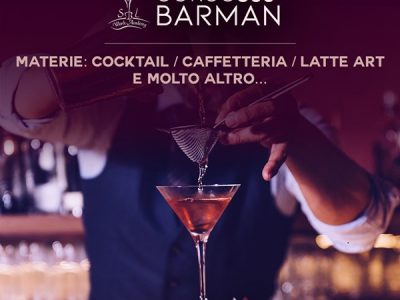 MARZO / CORSO BARMAN BASIC 360° DAL 22 AL 26