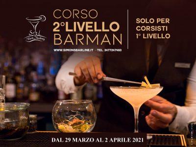 MARZO / CORSO BARMAN II° LIVELLO  DAL 29- MARZO AL 2 APRILE 2021