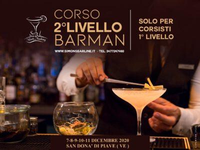 DICEMBRE / CORSO BARMAN II° LIVELLO 7-8-9-10-11 DICEMBRE 2020