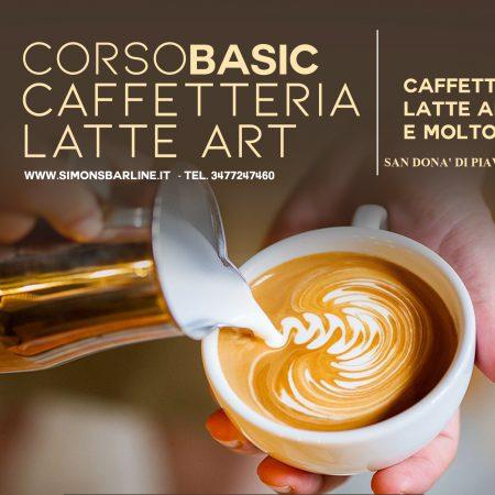 GENNAIO / CORSO CAFFETTERIA LATTE ART BASIC, DAL 18 AL 20 GENNAIO 2021