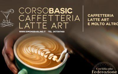 MAGGIO /  CORSO CAFFETTERIA LATTE ART BASIC, DAL 3  AL 5