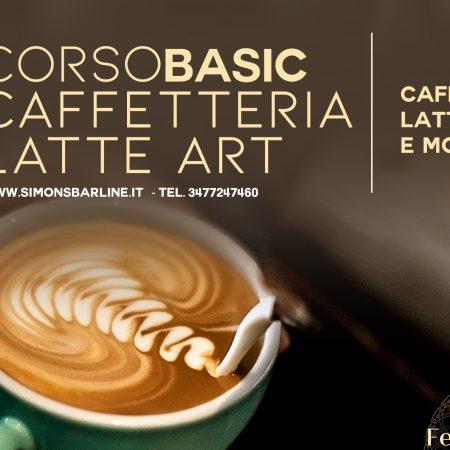 FEBBRAIO /  CORSO CAFFETTERIA LATTE ART BASIC, DALL' 8  AL 10
