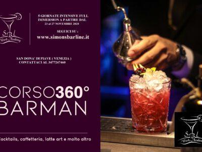 NOVEMBRE / CORSO BARMAN BASIC 360° Dal 23 AL 27