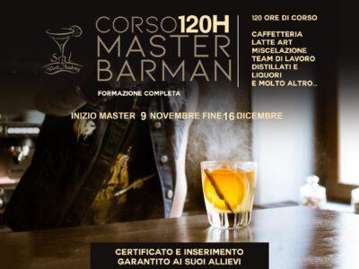 NOVEMBRE-2020/ MASTER BARMAN 120H FORMAZIONE COMPLETA